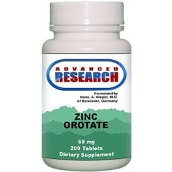 Advanced Research/Nutrient Carriers Zinc Orotate
