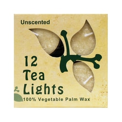Aloha Bay Palm Wax Tea Light Candles Cream Unscented
