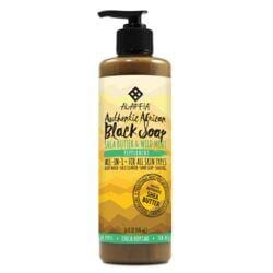 AlaffiaAuthentic African Black Soap Peppermint