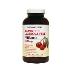 American Health Super Acerola Plus Natural Vitamin C Berry Flavor