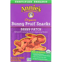 Annie's Organic Bunny Fruit Snacks Berry Patch