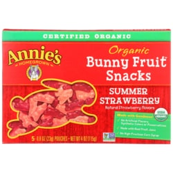 Annie'sOrganic Bunny Fruit Snacks - Summer Strawberry