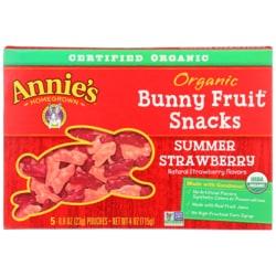 Annie's Organic Bunny Fruit Snacks - Summer Strawberry
