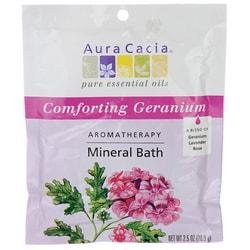 Aura Cacia Comforting Geranium Aromatherapy Mineral Bath