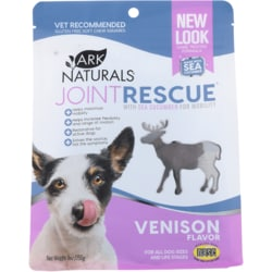 Ark Naturals Sea Mobility Joint Rescue Soft Chew Squares - Venison