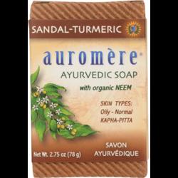 Auromere Ayurvedic Bar Soap Sandalwood-Turmeric