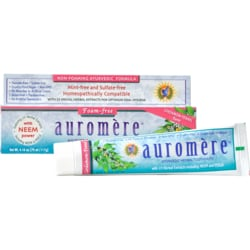 AuromereHerbal Toothpaste Non-Foaming Cardamom-Fennel