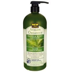 Avalon Organics Hand & Body Lotion Aloe Unscented