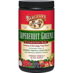Barlean'sSuperfruit Greens Strawberry-Kiwi