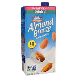 blue diamond unsweetened almond milk