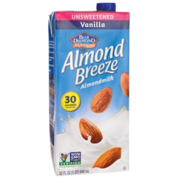 Blue DiamondAlmond Milk - Almond Breeze Vanilla Unsweetened