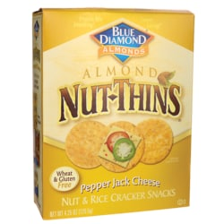Blue DiamondAlmond Nut-Thins Pepper Jack Cheese