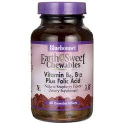Bluebonnet NutritionEarthSweet Chewables Vitamin B6, B12 Plus Folic Acid