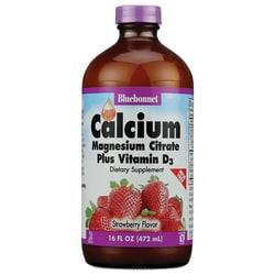 Bluebonnet NutritionLiquid Calcium Magnesium Citrate Plus Vitamin D3 Strawb