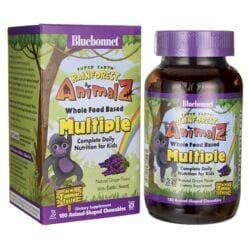 Bluebonnet NutritionSuper Earth Rainforest Animalz WholeFood Based Multiple