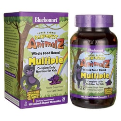 Bluebonnet NutritionSuper Earth Rainforest Animalz WholeFood Based Multiple