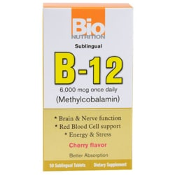 Bio NutritionB-12 (Methylcobalamin) - Cherry