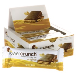 BioNutritional Research Group Barra energética con proteínas Power Crunch sabor a caramelo