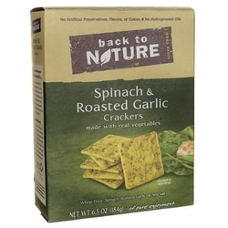 Back To NatureSpinach & Roasted Garlic Crackers