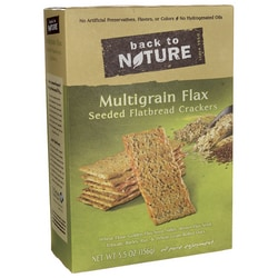 Back To NatureMultigrain Flax Seeded Flatbread Crackers