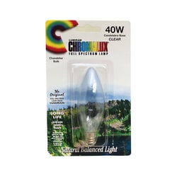 Chromalux Clear Chandelier Bulb