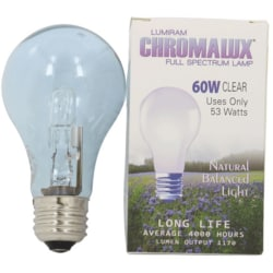 ChromaluxFull Spectrum Lamp Light Bulb - A19 Clear 60 Watt