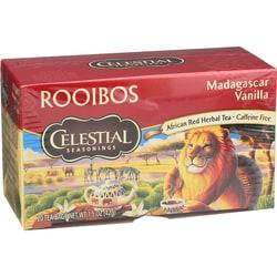 Celestial Seasonings Herbal Tea Madagascar Vanilla Red Tea Caffeine Free