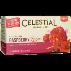 Celestial Seasonings Herbal Tea Raspberry Zinger Caffeine Free