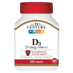 21st Century Vitamin D3 - 1000 IU - High Potency