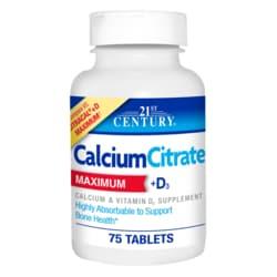 21st CenturyCalcium Citrate +D3 Maximum