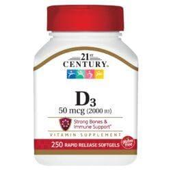 21st CenturySuper Strength D3 - Fast Release