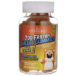 21st CenturyZoo Friends Multi Gummies Plus Extra C