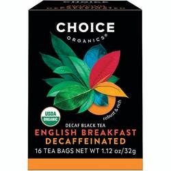 Choice Organic TeasOrganic Decaffeinated English Breakfast Tea