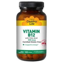 Country LifeVitamin B-12 W/Folic Acid Sublingual