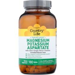 Country Life Target-Mins Magnesium Potassium Aspartate