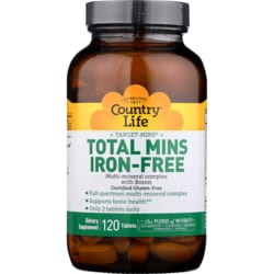 Country Life Target-Mins Iron-Free
