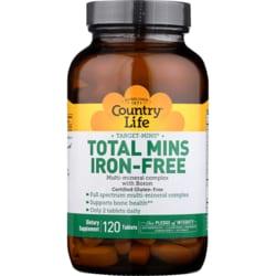 Country LifeTarget-Mins Iron-Free