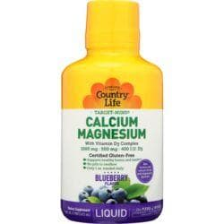 Country LifeLiquid Calcium-Magnesium with Vitamin D3 - Blueberry
