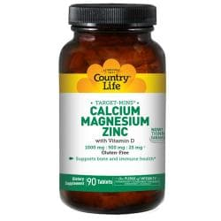 Country LifeTarget-Mins Calcium Magnesium Zinc with Vitamin D