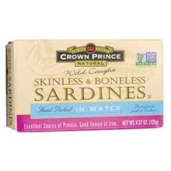 Crown PrinceWild Caught Sardines Skinless & Boneless in Water