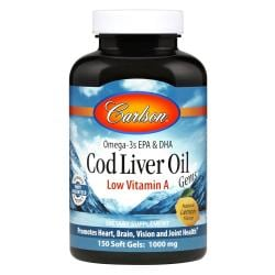 CarlsonCod Liver Oil Gems Low Vitamin A - Lemon