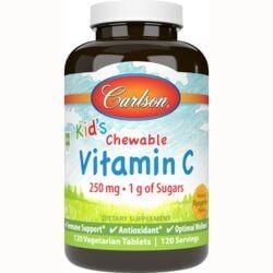 CarlsonKid's Chewable Vitamin C - Tangerine