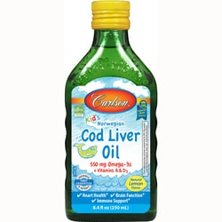 CarlsonKid's Norwegian Cod Liver Oil - Lemon