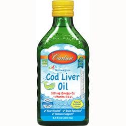 Carlson Kid's Norwegian Cod Liver Oil - Lemon
