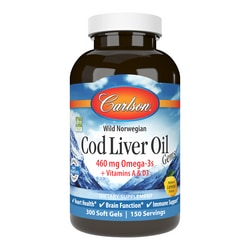 Carlson Cod Liver Oil Gems - Lightly Lemon