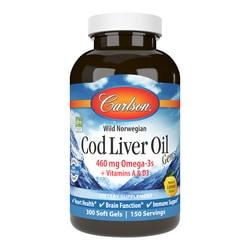 Carlson Cod Liver Oil Gems - Lightly Lemon