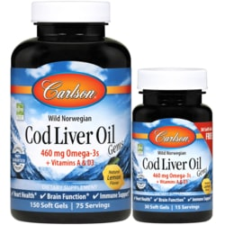 CarlsonCod Liver Oil Gems - Lightly Lemon