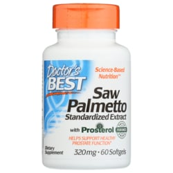 Doctor's BestSaw Palmetto Standardized Extract with eUROMED