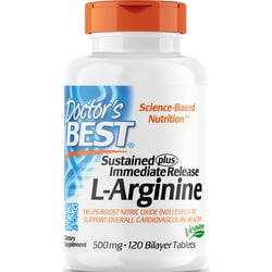Doctor's BestSustained Plus Immediate Release L-Arginine
