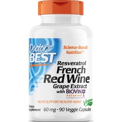Doctor's BestFrench Red Wine Grape Extract with Biovin